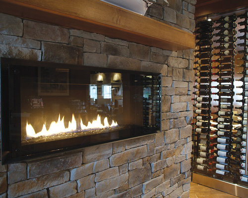 Reface fireplace with stone home design ideas pictures remodel and decor for Mcm interior wall stone reviews