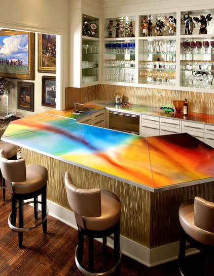 Contemporary Home Bar by Mary Anne Smiley Interiors