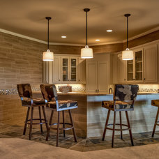 Transitional Home Bar by Inspired Interiors