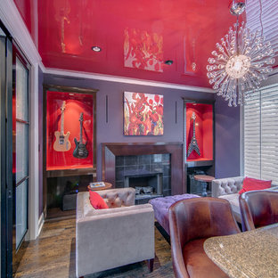 Stunning High Gloss Red Ceiling in Coppell TX