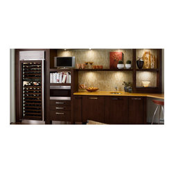 "Sub-Zero 30"" Built-in Dual Zone Full Size Wine Storage, Custom Panel 