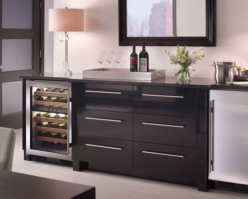 Countertop Ice Maker Edmonton : Modern Built In Home Bar Design Ideas, Remodels & Photos