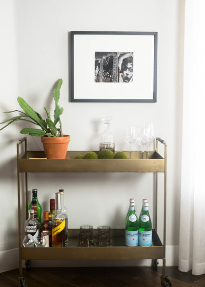 Contemporary Home Bar by Kate Bendewald Interior Design (KBID)