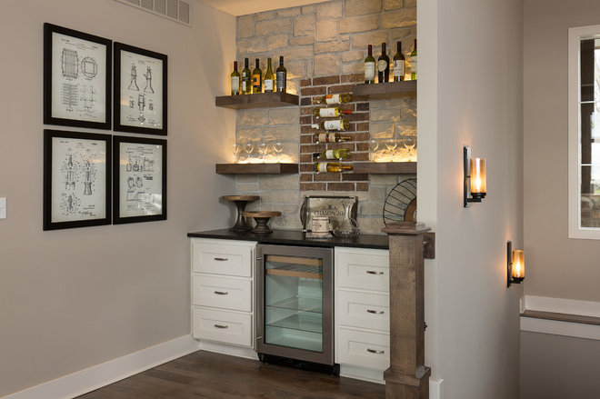 Craftsman Home Bar by Starr Homes