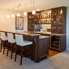 Transitional Home Bar by South Shore Cabinetry Ltd.