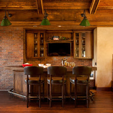 Rustic Home Bar by Master Woodworks inc