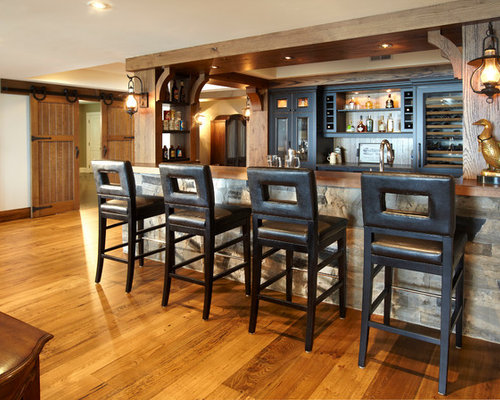 Reclaimed wood plank bar front home design ideas for Bar front ideas