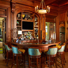 Traditional Home Bar by Alvarez Homes