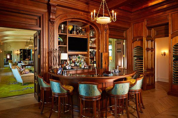 Traditional Home Bar by Alvarez Homes
