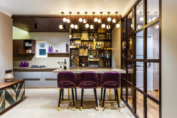 Modern Home Bar by deSigneR - Architects and Interior Designers