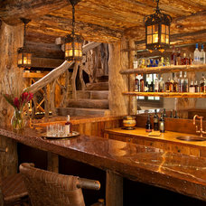 Rustic Home Bar by Lohss Construction