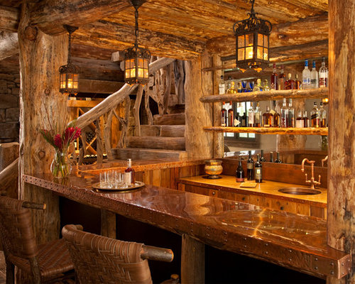 Log Home Wet Bar Design Ideas Pictures Remodel And