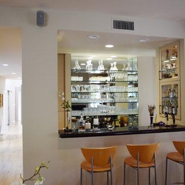 The Ratican Contemporary Breakfast Area, Family Room and Bar - Pasadena,Ca.