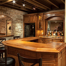 Rustic Home Bar by The Man Card Crew