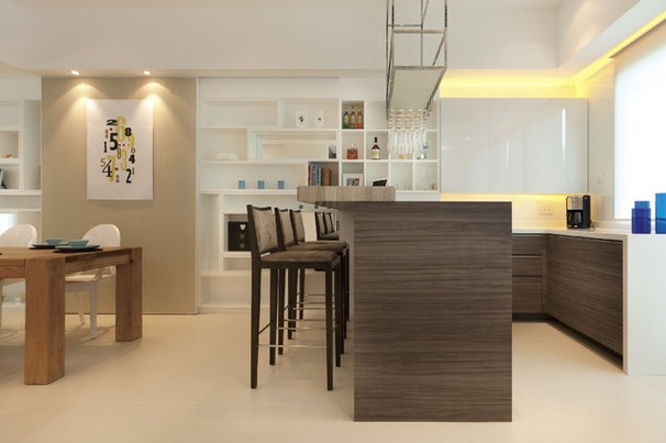 Contemporary Home Bar by S.I.D.Ltd.