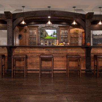 Timber Frame Bar & Finished Basement
