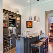 Traditional Home Bar by ACM Design