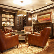 Traditional Home Theater by Parkyn Design
