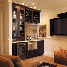 Traditional Home Bar by Fieldstone Cabinetry