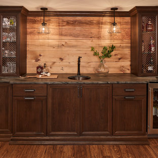 Traditional Kitchen + Rustic Lower Level Remodel