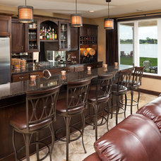 Traditional Home Bar by LandMark Photography