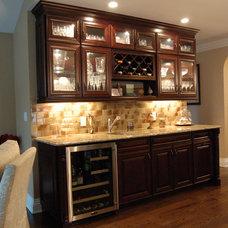 Transitional Home Bar by Ambassador Home Improvement