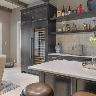 Transitional English Manor Game Room