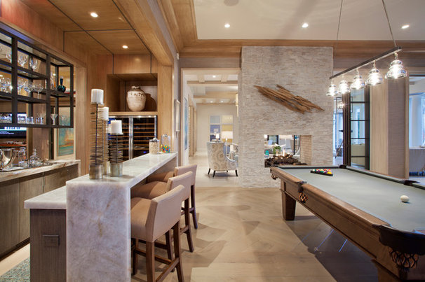 Transitional Home Bar by Affiniti Architects