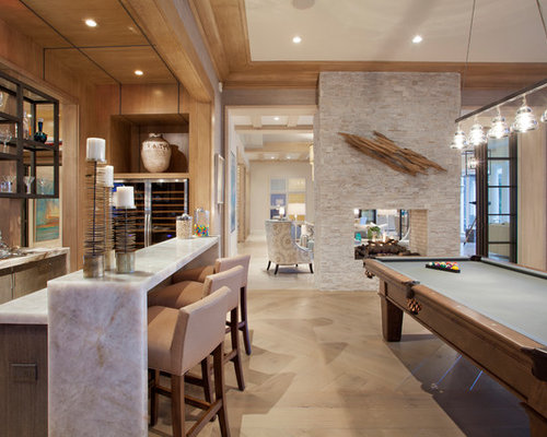 Stone around fireplace houzz - What is a transitional home ...