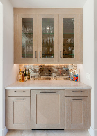 Transitional Home Bar by MONTEREY KITCHENS INC.