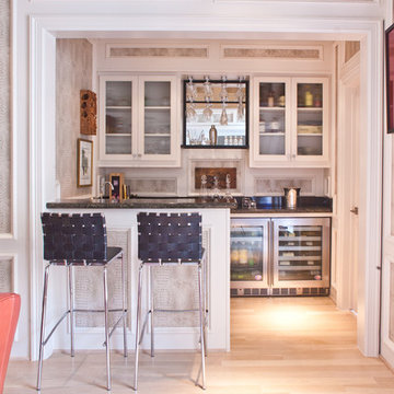 Transitional Home Bar