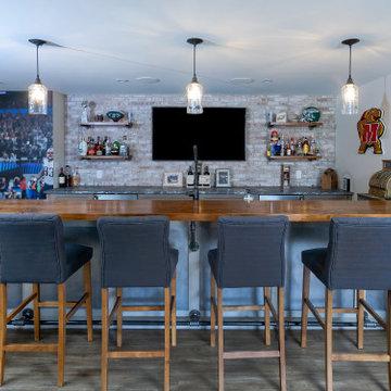 Transitional Home Bar