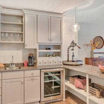 Transitional Kitchen, Bar Area & Master Bathroom Charlottesville, VA