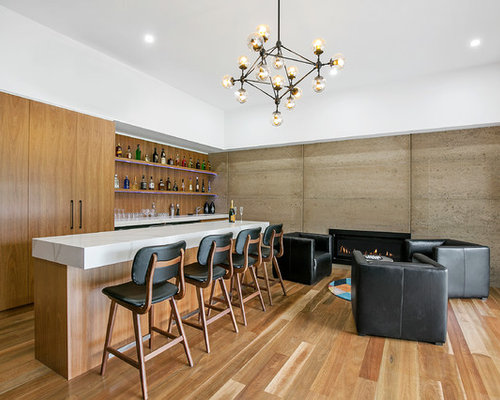 Inspiration For An Expansive Contemporary Galley Seated Home Bar In Geelong  With An Undermount Sink, Part 68