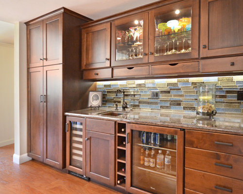 Traditional Home Bar Design Ideas Remodels Photos With
