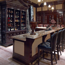 Traditional Home Bar by Larry E. Boerder Architects