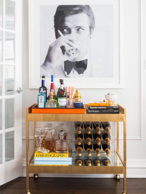 Bar de salon avec un chariot mini bar photos et id es - Mini bar de salon ...