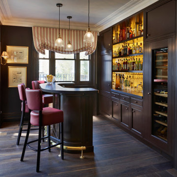 Victorian townhouse home bar