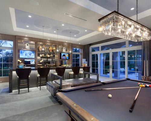 Expansive Contemporary Home Bar Design Ideas Remodels Photos