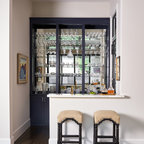 Sjc Dramatic Remodel Contemporary Home Bar Orange
