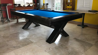 Vox Industrial Steel Billiards Pool Table at Sawyer Twain