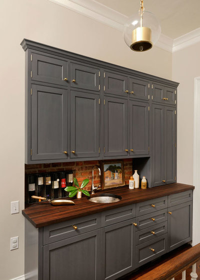 Transitional Home Bar by Jennifer Gilmer Kitchen & Bath