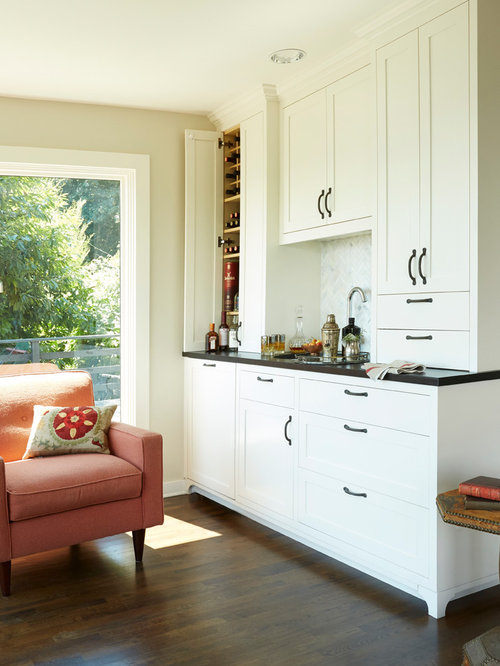 Wet bar cabinets houzz Home bar furniture seattle