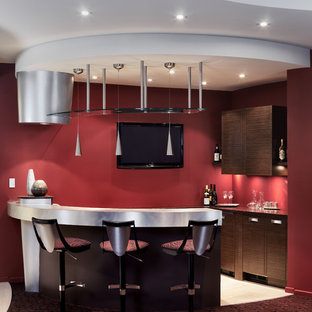 water's edge project - basement bar & family room