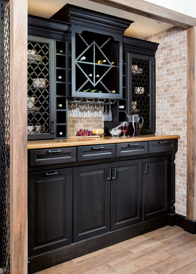 Traditional Home Bar by Hannon Home Center