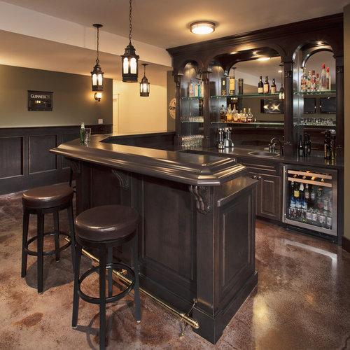 West Hillhurst Escape: Home Bar Design Ideas, Renovations & Photos With Concrete