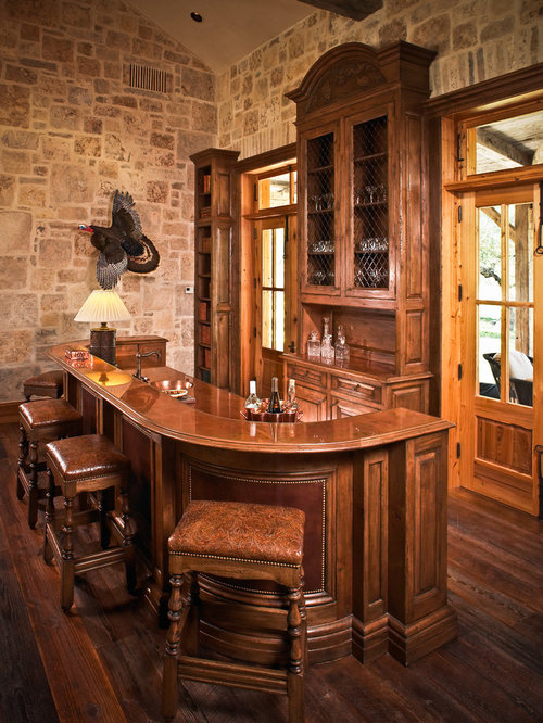 Rustic Houston Home Bar Design Ideas Remodels