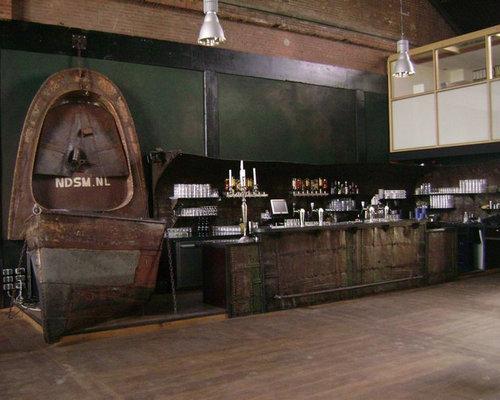 Industrial Amsterdam Home Bar Design Ideas, Remodels & Photos