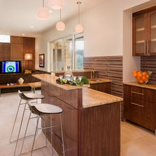 Contemporary Home Bar by James D. LaRue Architects