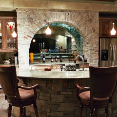 eclectic basement by Alisa McPheron